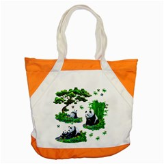 Cute Panda Cartoon Accent Tote Bag