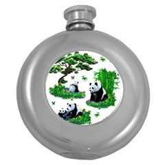 Cute Panda Cartoon Round Hip Flask (5 oz)