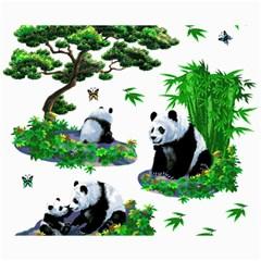Cute Panda Cartoon Canvas 8  X 10
