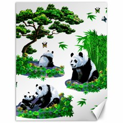 Cute Panda Cartoon Canvas 12  X 16