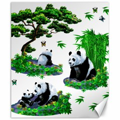 Cute Panda Cartoon Canvas 20  X 24