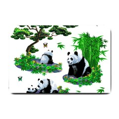 Cute Panda Cartoon Small Doormat