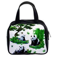 Cute Panda Cartoon Classic Handbags (2 Sides)