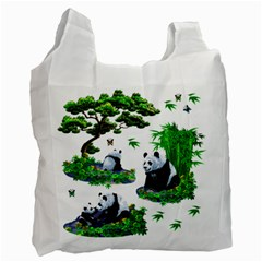 Cute Panda Cartoon Recycle Bag (two Side)