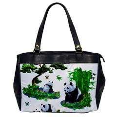 Cute Panda Cartoon Office Handbags