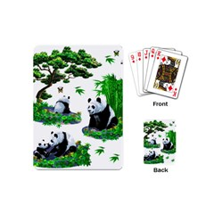 Cute Panda Cartoon Playing Cards (Mini)