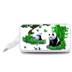 Cute Panda Cartoon Portable Speaker (White)