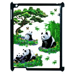 Cute Panda Cartoon Apple iPad 2 Case (Black)