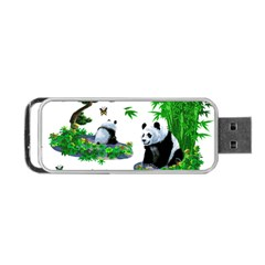Cute Panda Cartoon Portable USB Flash (One Side)