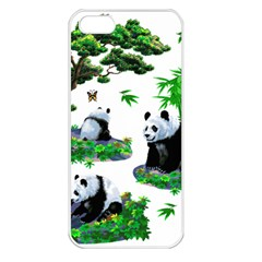 Cute Panda Cartoon Apple iPhone 5 Seamless Case (White)