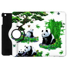 Cute Panda Cartoon Apple iPad Mini Flip 360 Case