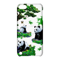 Cute Panda Cartoon Apple iPod Touch 5 Hardshell Case with Stand