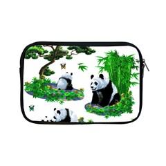 Cute Panda Cartoon Apple Ipad Mini Zipper Cases