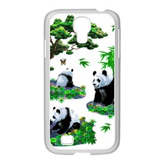 Cute Panda Cartoon Samsung GALAXY S4 I9500/ I9505 Case (White)