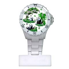 Cute Panda Cartoon Plastic Nurses Watch