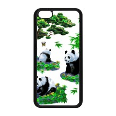 Cute Panda Cartoon Apple iPhone 5C Seamless Case (Black)