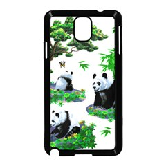 Cute Panda Cartoon Samsung Galaxy Note 3 Neo Hardshell Case (Black)