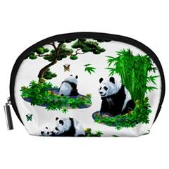 Cute Panda Cartoon Accessory Pouches (Large)