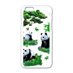 Cute Panda Cartoon Apple Iphone 6/6s White Enamel Case