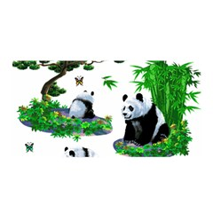 Cute Panda Cartoon Satin Wrap