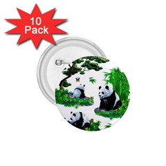 Cute Panda Cartoon 1.75  Buttons (10 pack)