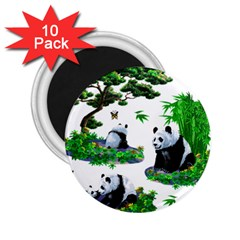 Cute Panda Cartoon 2 25  Magnets (10 Pack)