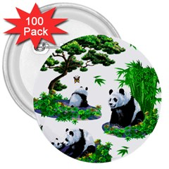 Cute Panda Cartoon 3  Buttons (100 Pack)