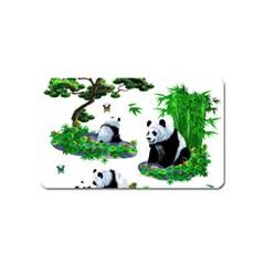 Cute Panda Cartoon Magnet (name Card)