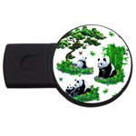 Cute Panda Cartoon USB Flash Drive Round (2 GB) Front