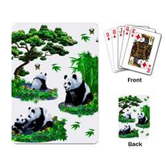 Cute Panda Cartoon Playing Card