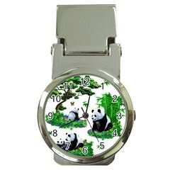 Cute Panda Cartoon Money Clip Watches