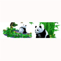 Cute Panda Cartoon Large Bar Mats