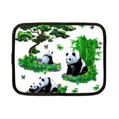 Cute Panda Cartoon Netbook Case (small)