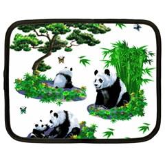 Cute Panda Cartoon Netbook Case (Large)