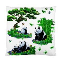 Cute Panda Cartoon Standard Cushion Case (two Sides)