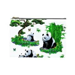 Cute Panda Cartoon Cosmetic Bag (large)