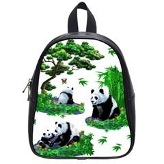 Cute Panda Cartoon School Bags (Small)