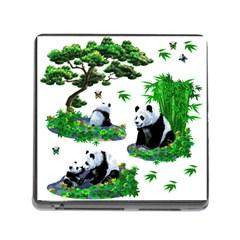 Cute Panda Cartoon Memory Card Reader (square)
