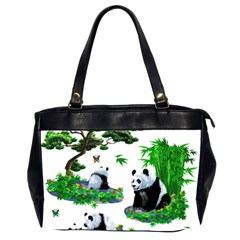 Cute Panda Cartoon Office Handbags (2 Sides)