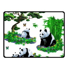 Cute Panda Cartoon Fleece Blanket (small)