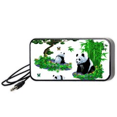 Cute Panda Cartoon Portable Speaker (black)