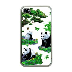 Cute Panda Cartoon Apple iPhone 4 Case (Clear)