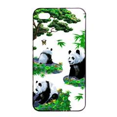 Cute Panda Cartoon Apple iPhone 4/4s Seamless Case (Black)