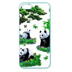 Cute Panda Cartoon Apple Seamless iPhone 5 Case (Color)