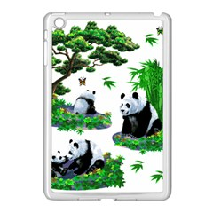 Cute Panda Cartoon Apple iPad Mini Case (White)