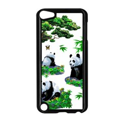 Cute Panda Cartoon Apple iPod Touch 5 Case (Black)