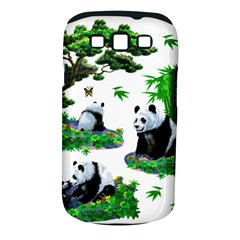 Cute Panda Cartoon Samsung Galaxy S III Classic Hardshell Case (PC+Silicone)