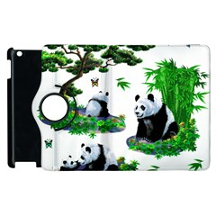 Cute Panda Cartoon Apple Ipad 3/4 Flip 360 Case