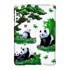 Cute Panda Cartoon Apple Ipad Mini Hardshell Case (compatible With Smart Cover)