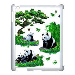 Cute Panda Cartoon Apple iPad 3/4 Case (White)